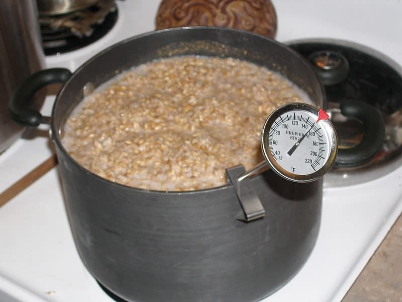 Mashing process in the beer brewing process