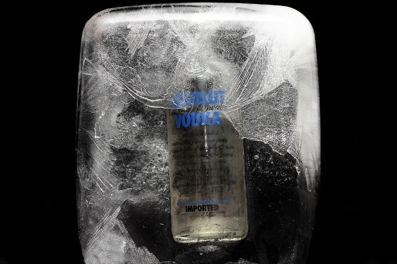 Vodka freezes at temperatures around -17F or -25C and can therefore be sotred in the freezer