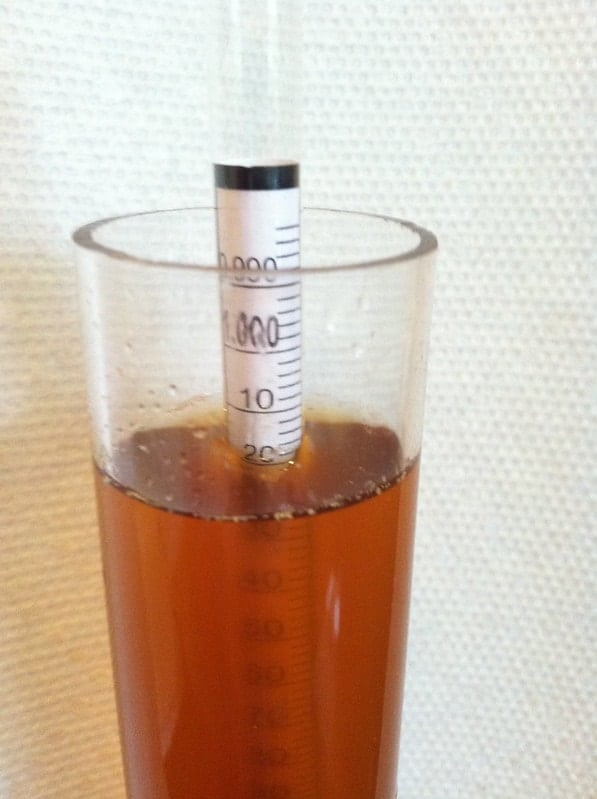 measuring alcohol content of beer