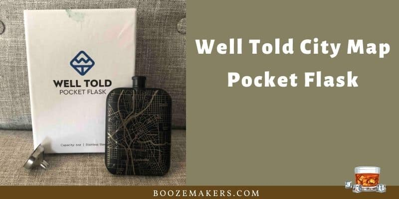 Well Told City Map Pocket Flask